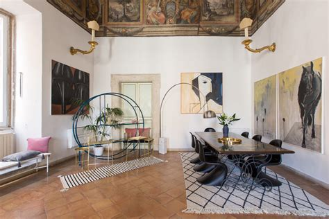 A Fresco-filled Apartment In Rome