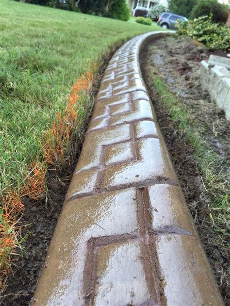 best 25 concrete curbing ideas on concrete