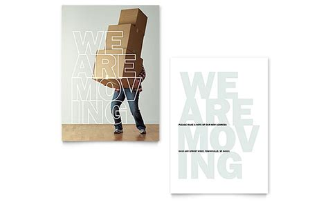 moving announcement template word publisher