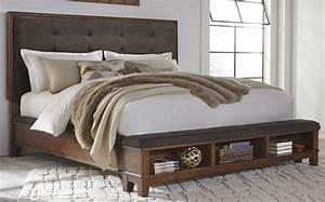 Ralene, Dark, Brown, Cal, King, Upholstered, Storage, Platform, Bed, From, Ashley