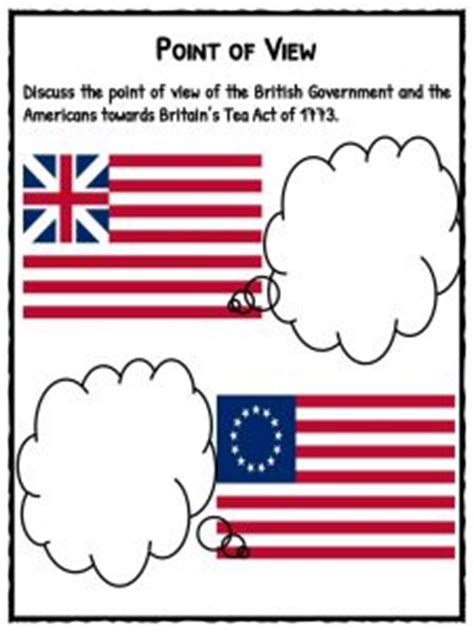 boston tea party facts information worksheets  kids