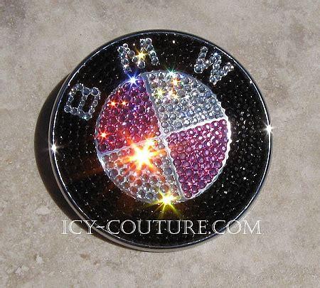 Custom Bmw Emblems With Swarovski Crystals  Gold, Pink