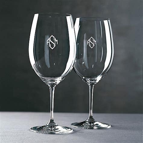 Monogrammed Riedel Vinum Cabernetmerlotbordeaux Wine