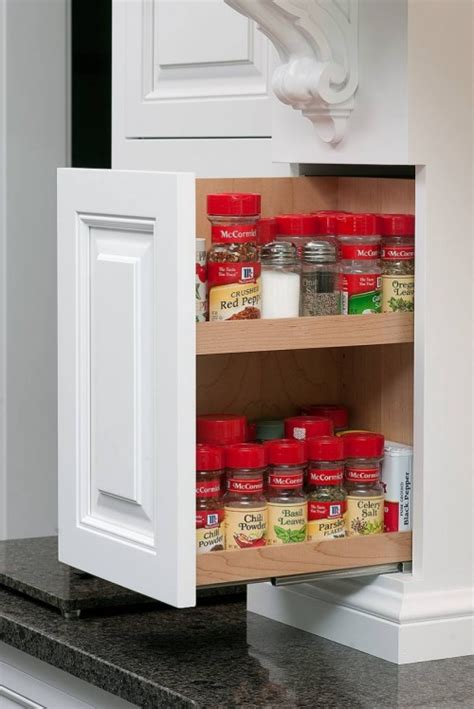 kitchen cabinet spice rack slide 10 pull out spice storage solutions shelterness 7959
