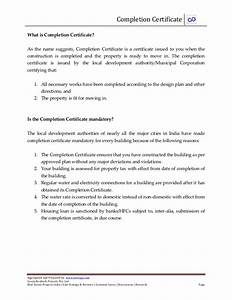What is pletion certificate and how to obtain it