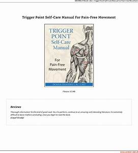 Read Pdf  U00ab Trigger Point Self Care Manual For Pain Free