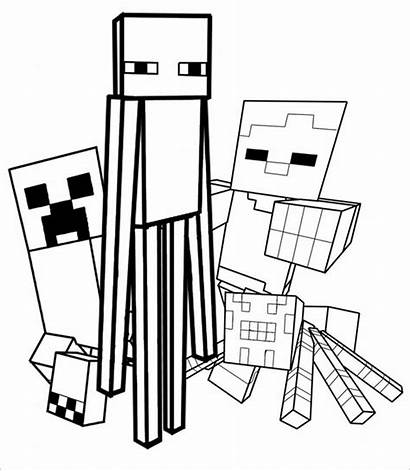 Minecraft Coloring Drawings 06kb 671px
