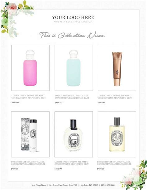 vertical line sheet wholesale catalog template mini