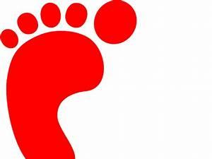 Red Footprint clip art - vector clip art online, royalty ...