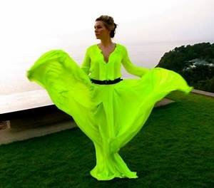 27 best Neon Green Ball Gowns images on Pinterest