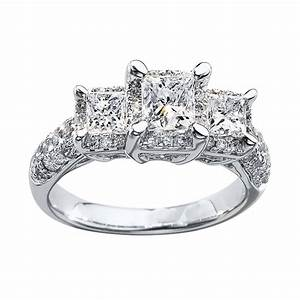 kay jewelers style 990839401 white gold three stone With www kay jewelers wedding ring com