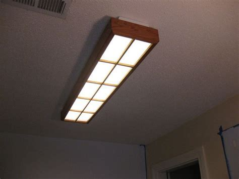 Creative decorative fluorescent light covers diy for