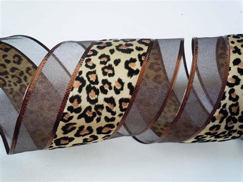 5yd brown cheetah leopard christmas wreath safari wedding