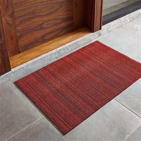 chilewich striped red doormat crate  barrel