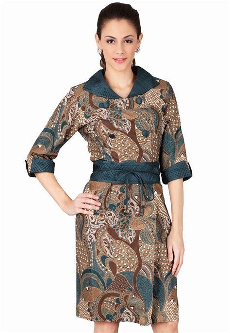 contoh baju batik kerja wanita baju terbaru