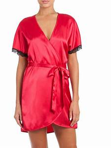 in bloom robe babydoll red black ribbons bows With robe baby doll