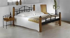 Bett 180x200 Metall : metallbett im landhausstil aus eiche 180x200 cm sinja ~ Whattoseeinmadrid.com Haus und Dekorationen