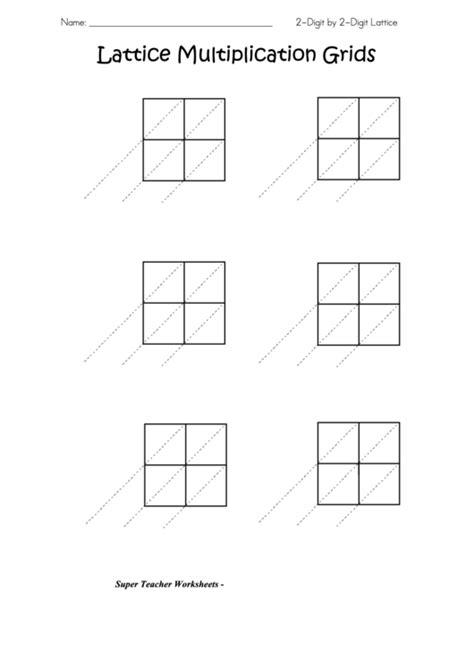 lattice multiplication grids template printable