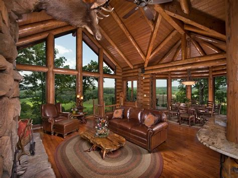 luxury log cabin  custom cliff side hot vrbo