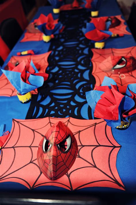 The Party Wall Spiderman Birthday Party Part 4, Decorations