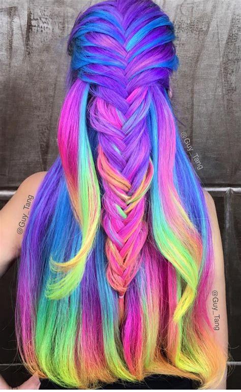 Rainbow Colored Hair Gorgeous Hair Hair Styles Hair