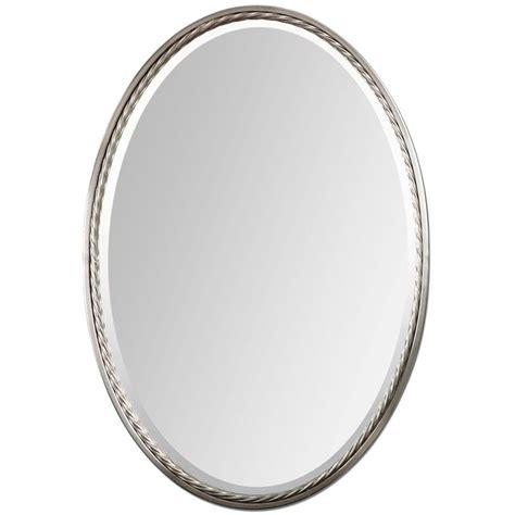 global direct nickel beveled oval wall mirror  lowescom