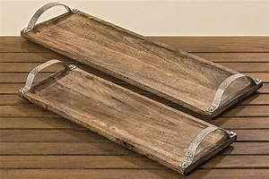 Tablett Aus Holz : tablett aus holz mit edlem beschlag in hammerschlag effekt allg u deko ~ Buech-reservation.com Haus und Dekorationen