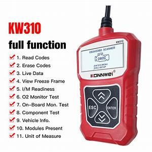 Konnwei Kw310 Obd2 Car Diagnostic Scanner Eobd Scan Tool