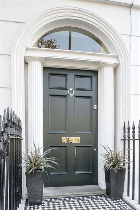 lovely georgian  panel front door  studio green