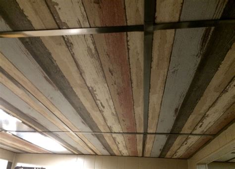 ceiling tile ideas dropped ceiling i wallpapered the ceiling tiles i