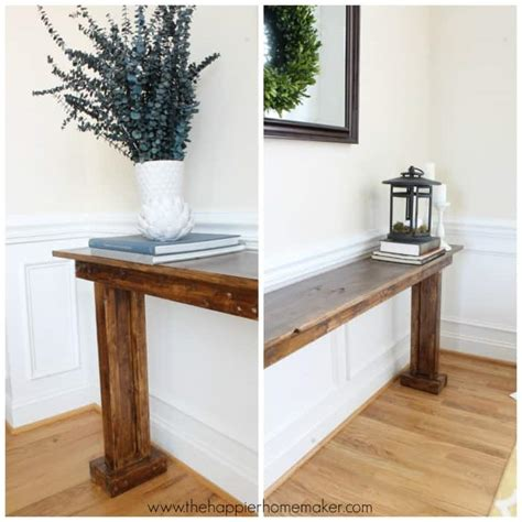 ana white console table    featuring
