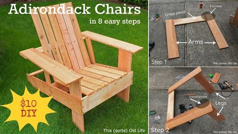 diy adirondack chair   easy steps home design garden
