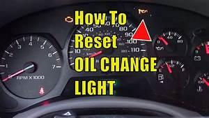 Stupid Chevy Trailblazer Oil Change Light  Easy To Reset