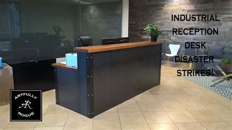 build a reception desk disaster industrial reception desk project youtube