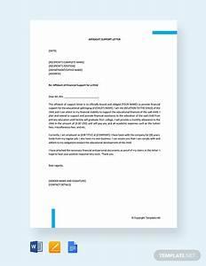 Hardship Affidavit Sample Letters Free Affidavit Of Support Letter Letter Templates