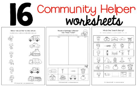 new community helpers theme pack the measured 373 | worksheets image 590x376