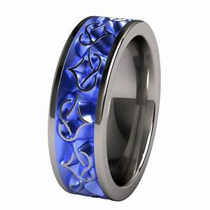 mens blue titanium wedding bands wedding and bridal With mens blue wedding rings