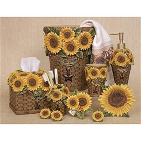 Sunflower Bathroom Rug Set by Blonder Sunflower Bathroom Collection For The Home