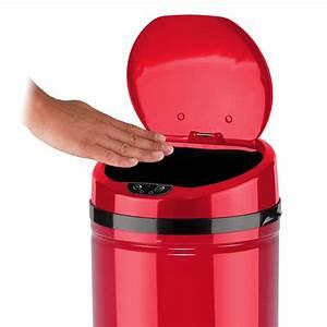 Mülleimer Mit Sensor : echtwerk design edelstahl abfalleimer rot 42l mit ir sensor inox red ebay ~ Whattoseeinmadrid.com Haus und Dekorationen