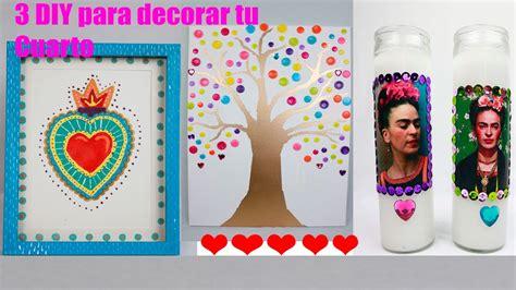 manualidades para decorar tu cuarto 3 manualidades faciles para decorar tu cuarto youtube