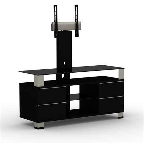 meuble tele avec support elmob pone pn 120 02f noir meuble tv elmob sur ldlc
