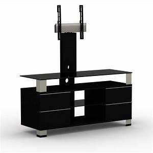 Table Pour Tv : elmob pone pn 120 02f noir meuble tv elmob sur ~ Teatrodelosmanantiales.com Idées de Décoration