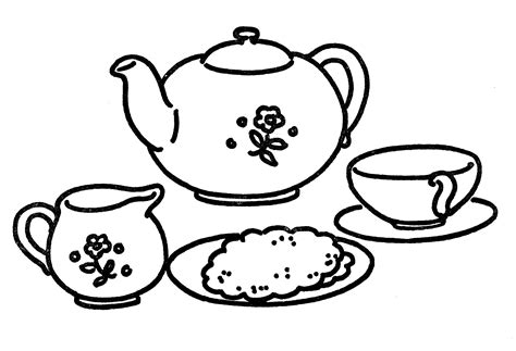 art tea set  graphics fairy