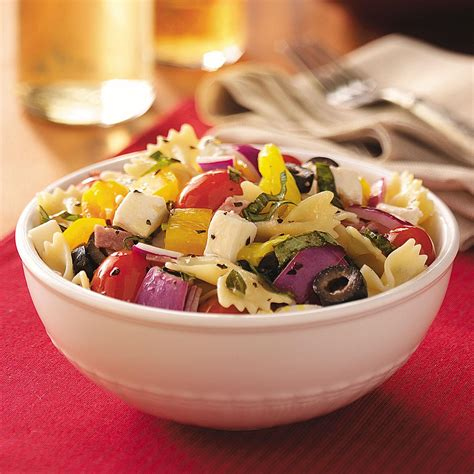 italian basil pasta salad recipe taste  home