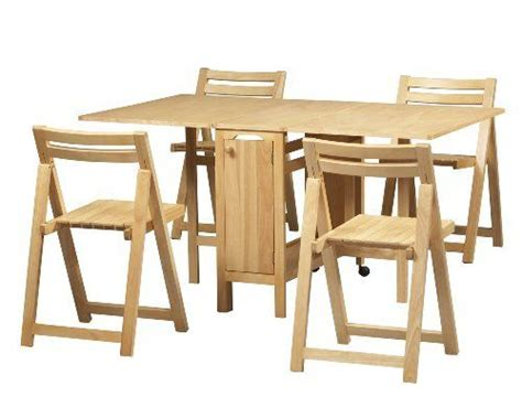 folding table with chairs inside table bases space saver and dining sets on pinterest