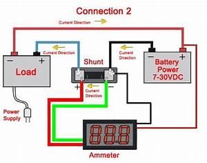 Beesclover 0 A Digital Dc Va Amp Volt Ammeter Voltmeter Ampere 2in1 Blue Red 2