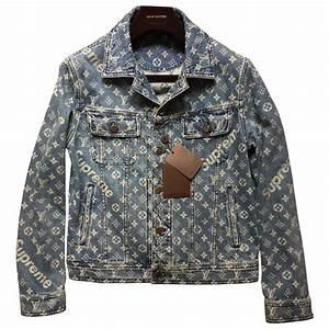 Blue Denim - Jeans LOUIS VUITTON X SUPREME Jacket - Vestiaire Collective
