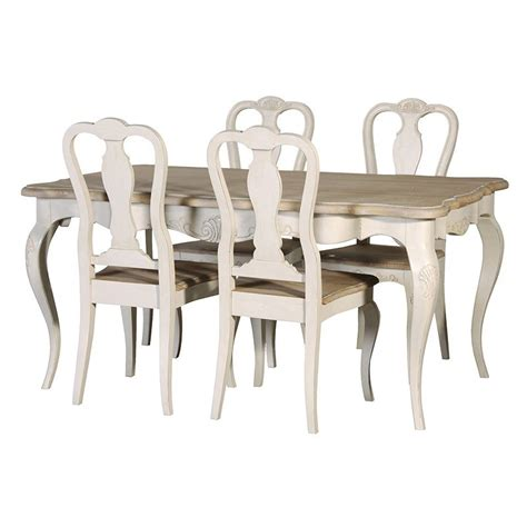 ornate dining table and 4 chairs melody maison 174