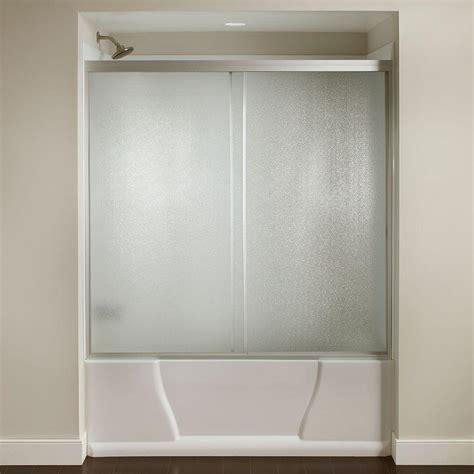 bathtub sliding doors 60 in x 56 3 8 in framed sliding bathtub door kit in