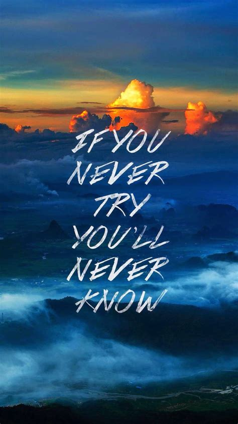 Inspirational Quote Background by Never 1080 X 1920 Wallpapers 4378291